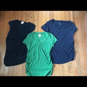 Tops - 3 maternity shirts